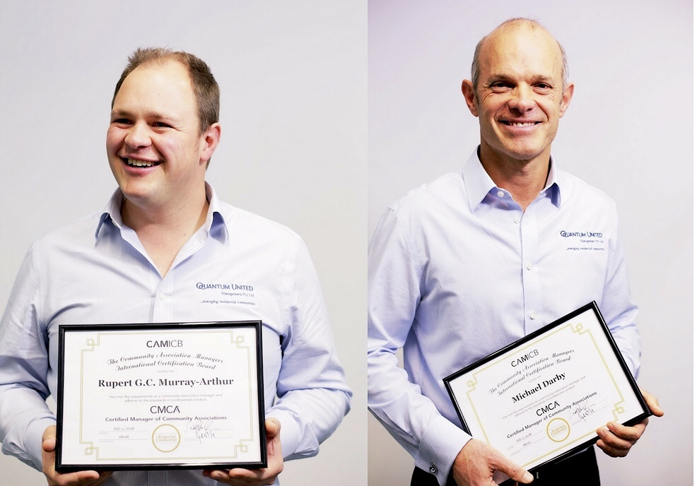 Michael Darby & Rupert Murray-Arthur receive International Management Accreditation