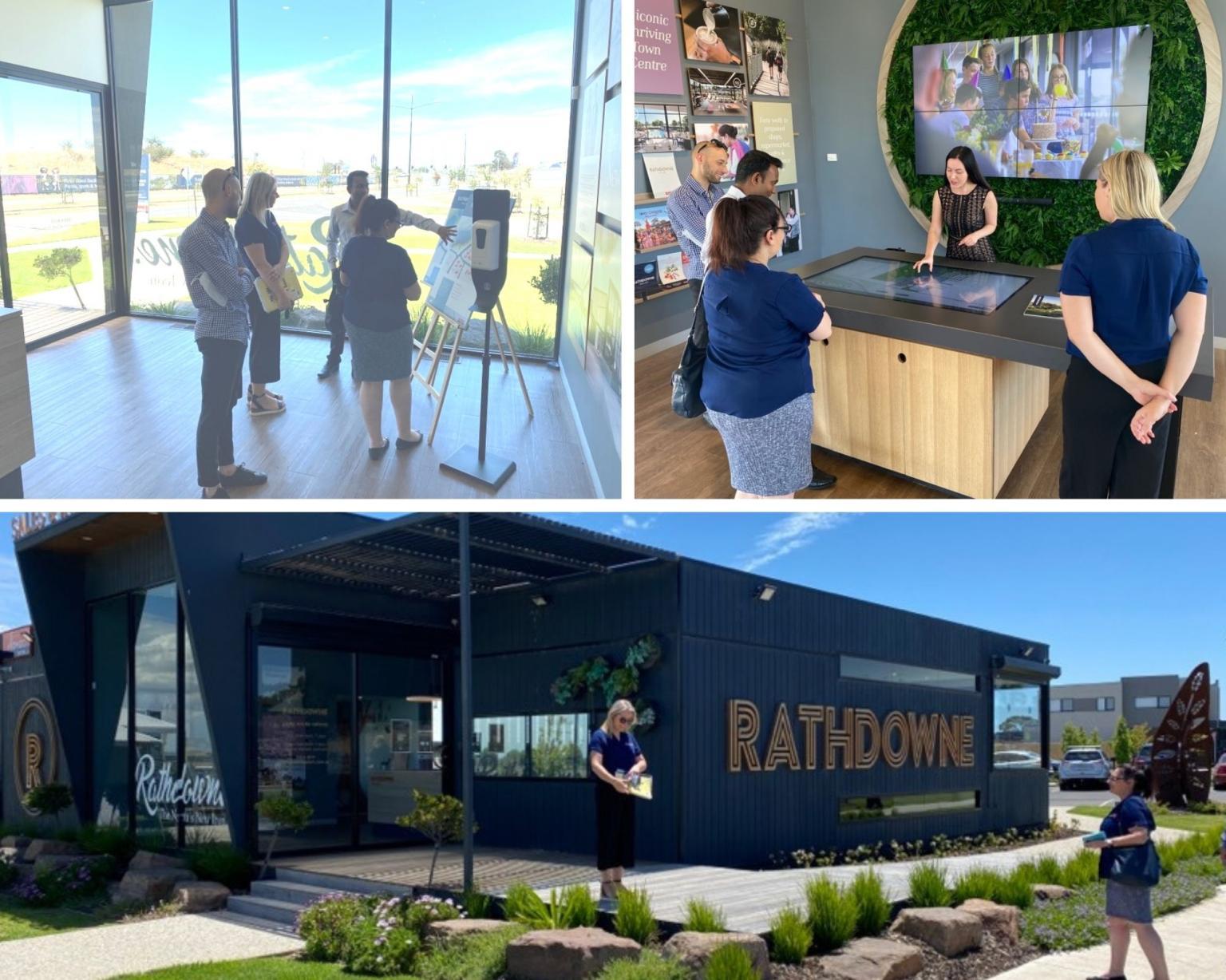 Team Quantum visit the Rathdowne community sales office
